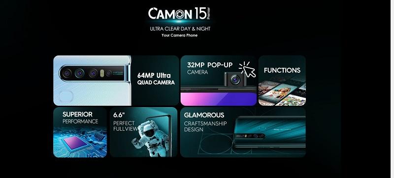 Tecno Camon 15 Premier Features