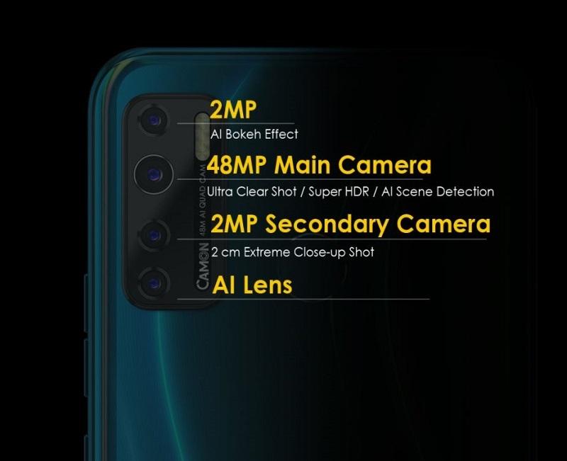Tenco Camon 15 Air Quad Rear Camera