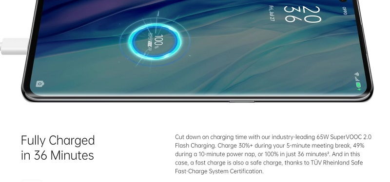 65W Super Fast Charging