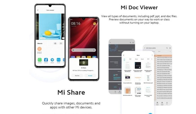 Document Share on note 10 Lite