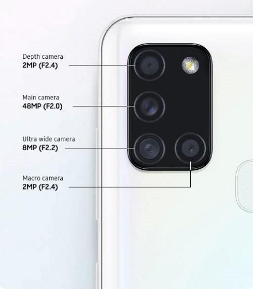 Galaxy A21s Quad-camera