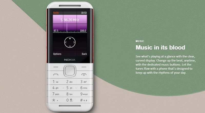 Nokia 5310 2020 is a music phone