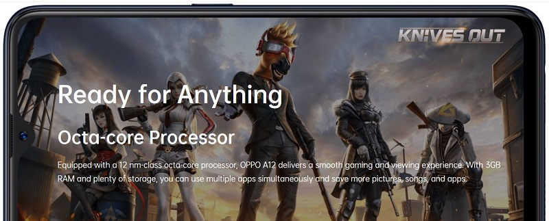 Oppo A12 Has a Powerful processor and 3GB RAM