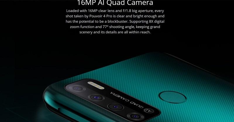 Tecno Pouvoir 4 Pro AI Quad Camera