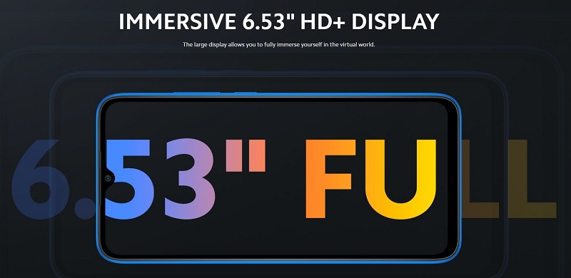 Immersive 6.53 Inches HD Display