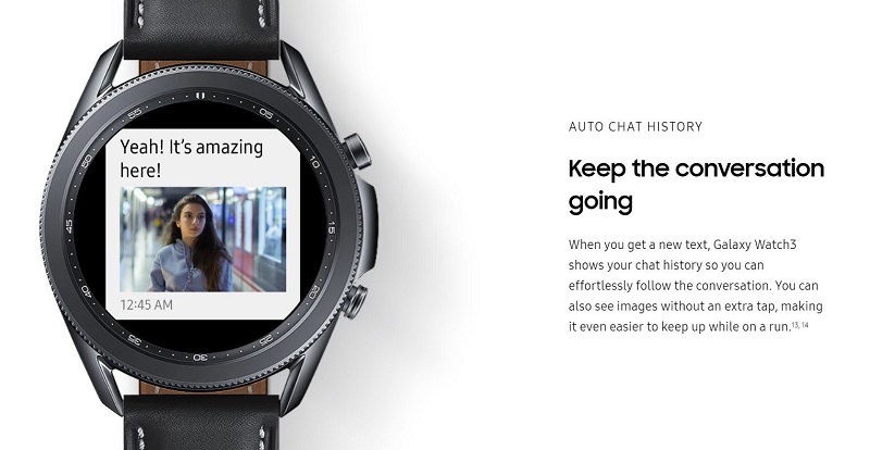 Keep the conversation going with the Samsung Galaxy Watch 3