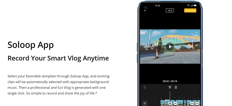 Realme 6 Comes with the Soloop vedeo app