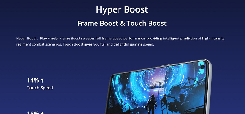 Realme 6 Hyper Touch Boost