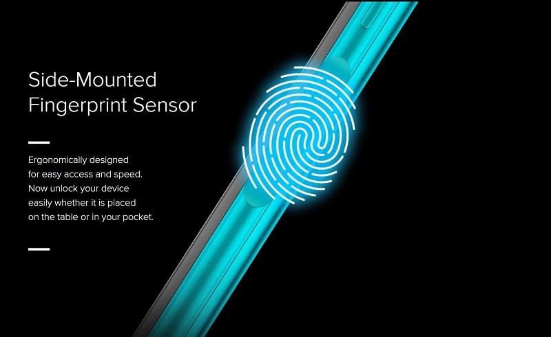 Side-Mounted Fingerprint Scanner