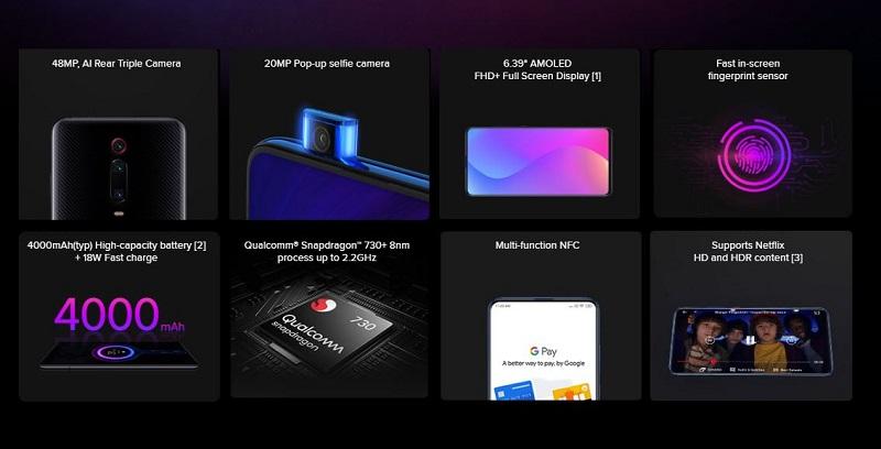 Xiaomi Mi 9T Key Features