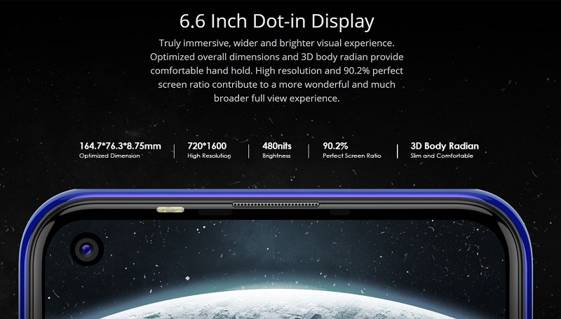 6.6 Inches Dot-in Display