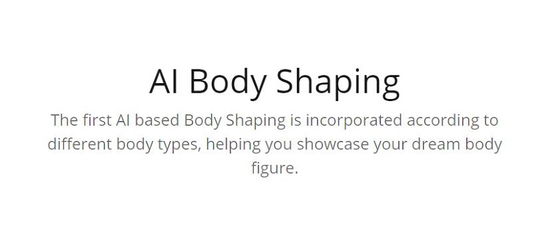 AI Body Shaping Camera