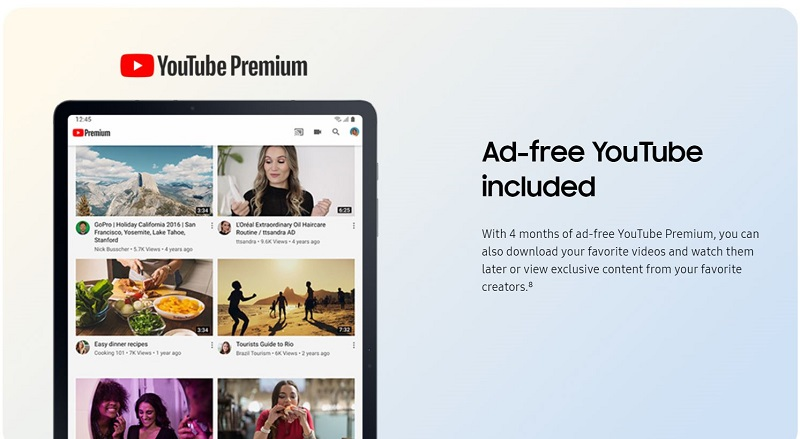 Ad-Free YouTube Included