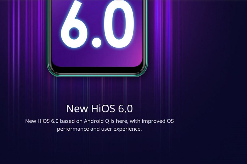 New HiOS 6.0 Based on Android Q