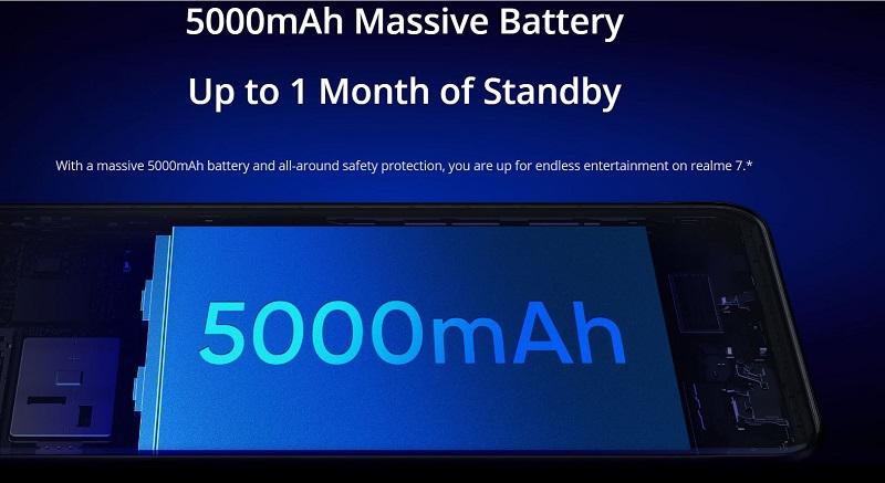 Realme 5000mAh Massive Battery