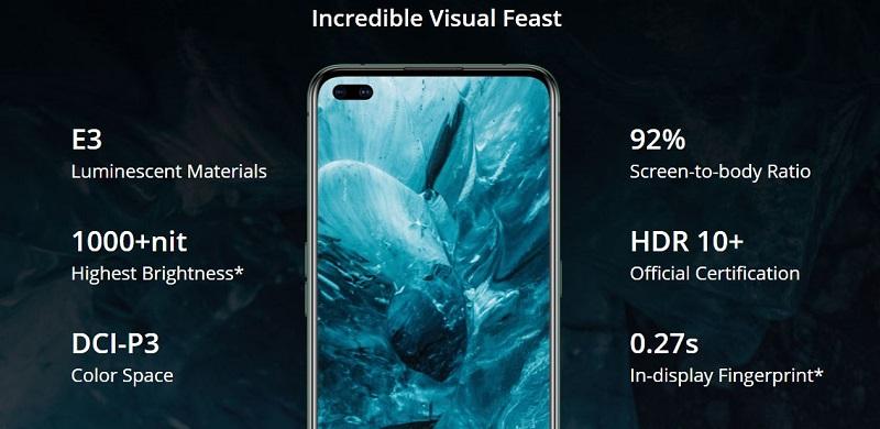 Realme X50 Pro Super AMOLED display