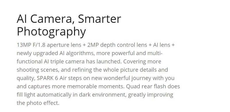 Tecno Spark 6 Smarter Photography