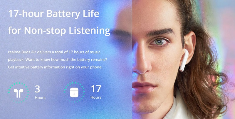 17 hours battery life