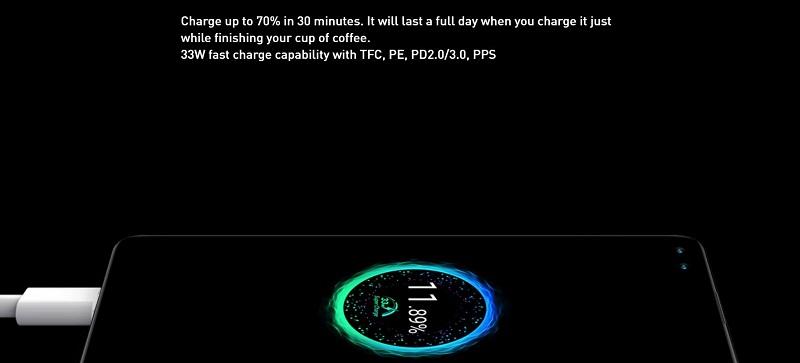 33 Watt Fast Charge