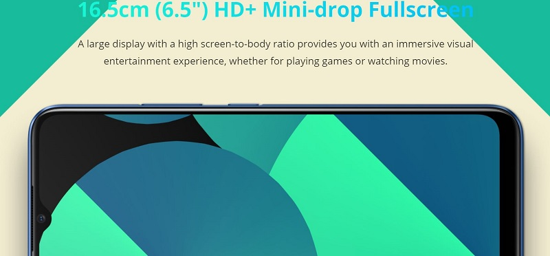 6.5 Inches HD Display