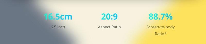 88.7% Screen To Body Ratio.