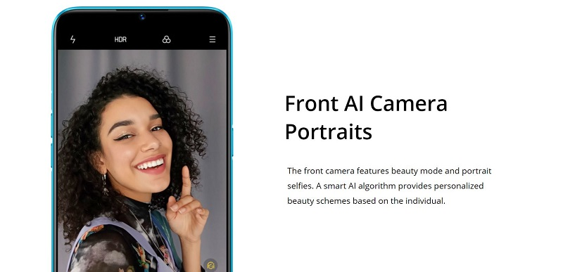 Front camera features