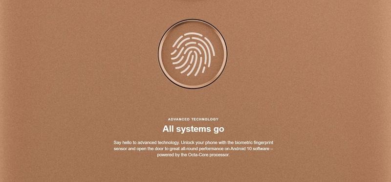 Nokia C3 Biometric Fingerprint Sensor