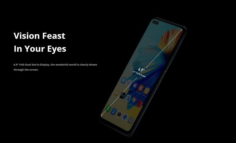 6.9 Inches Dual Dot-In Display