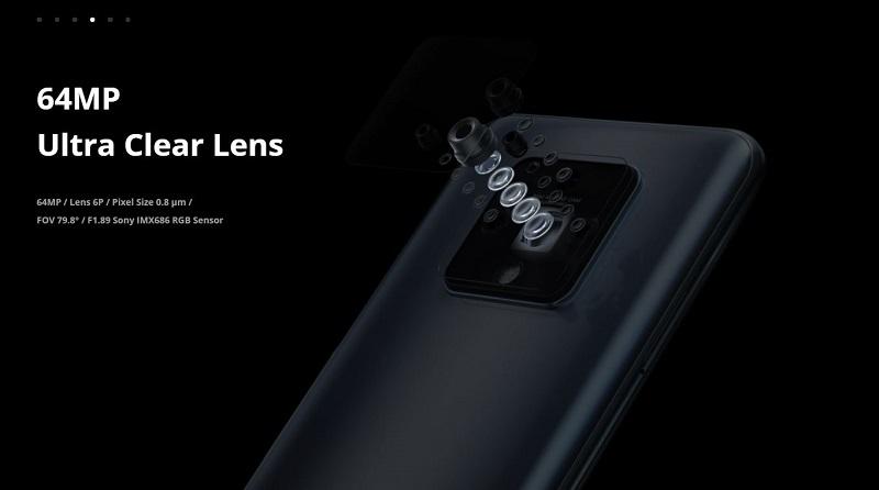 64 Megapixels Ultra Clear Lens