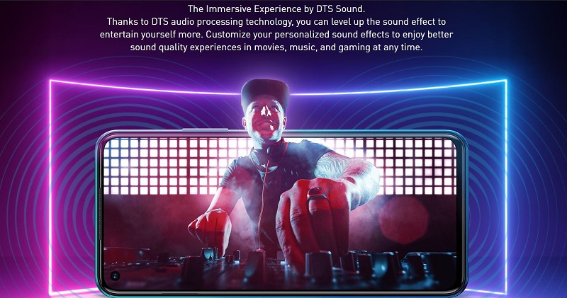 Hot 10 Lite DTS Audio Processing and Music Party Mode