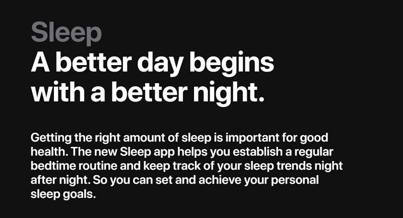 New Sleep Application Helps in establishing a regular bedtime routine