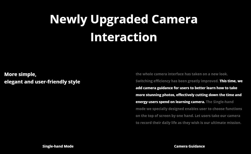 Newly Upgraded Camera Interactions