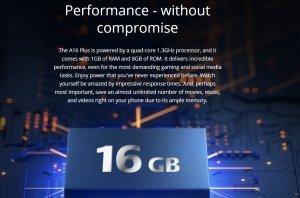 Itel A16 Plus Quad-Core 1.3GHz Processor
