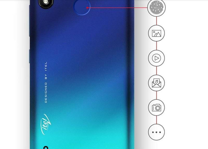 Itel A36 Fingerprint Sensor