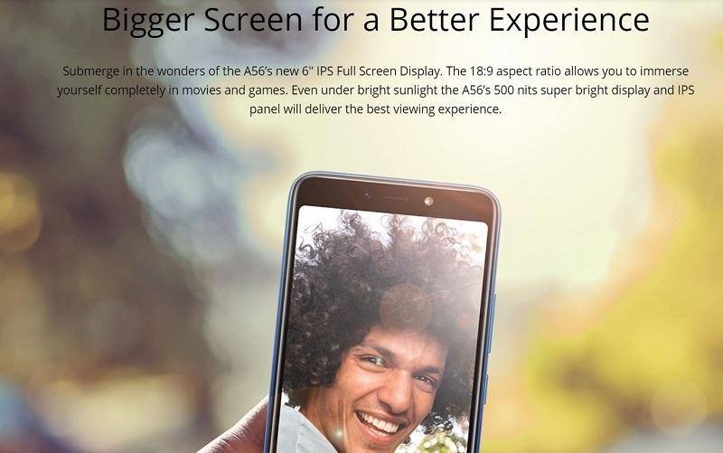 Itel A56 Pro IPS Full Screen Display