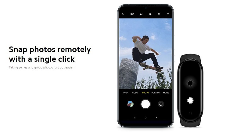 Take Pictures Remotely With the Band 5